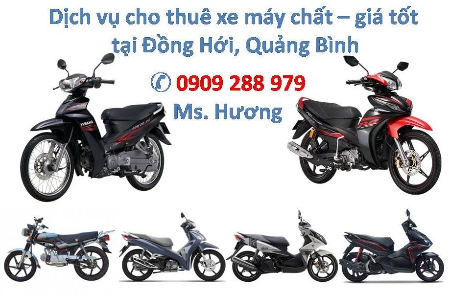 Dịch vụ cho thuê xe máy tại Đồng Hới - Tour du lịch tốt nhất Quảng Bình go