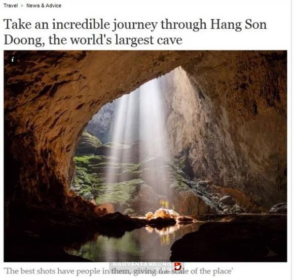 Báo chí Thế giới viết về vẻ đẹp hang Sơn Đoòng, Phong Nha Kẻ Bàng - Tour du lịch tốt nhất Quảng Bình go 2