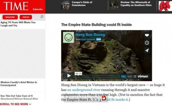 Báo chí Thế giới viết về vẻ đẹp hang Sơn Đoòng, Phong Nha Kẻ Bàng - Tour du lịch tốt nhất Quảng Bình go 1