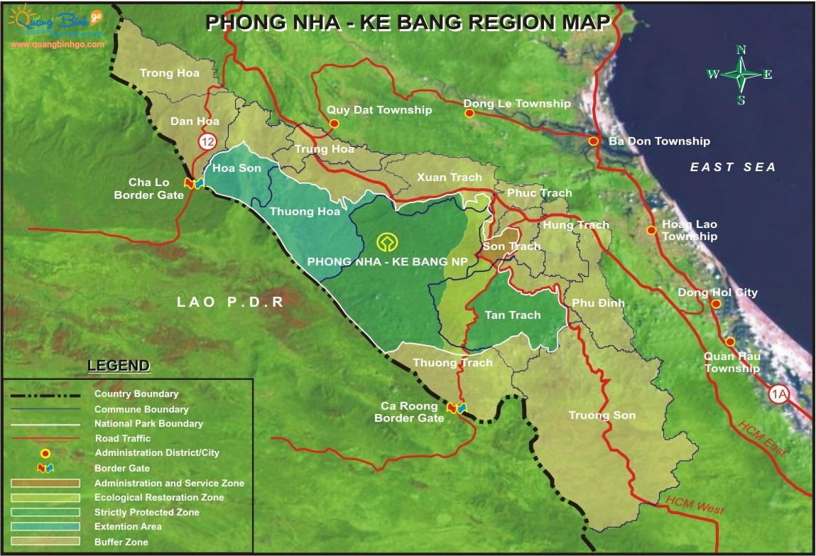 Tourist map of Quang Binh province, Phong Nha - Ke Bang 3