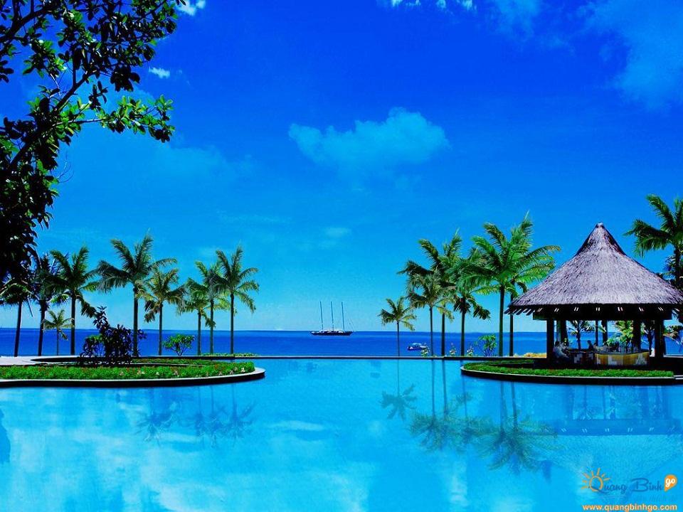 Bể bơi vô cực Sun Spa Resort