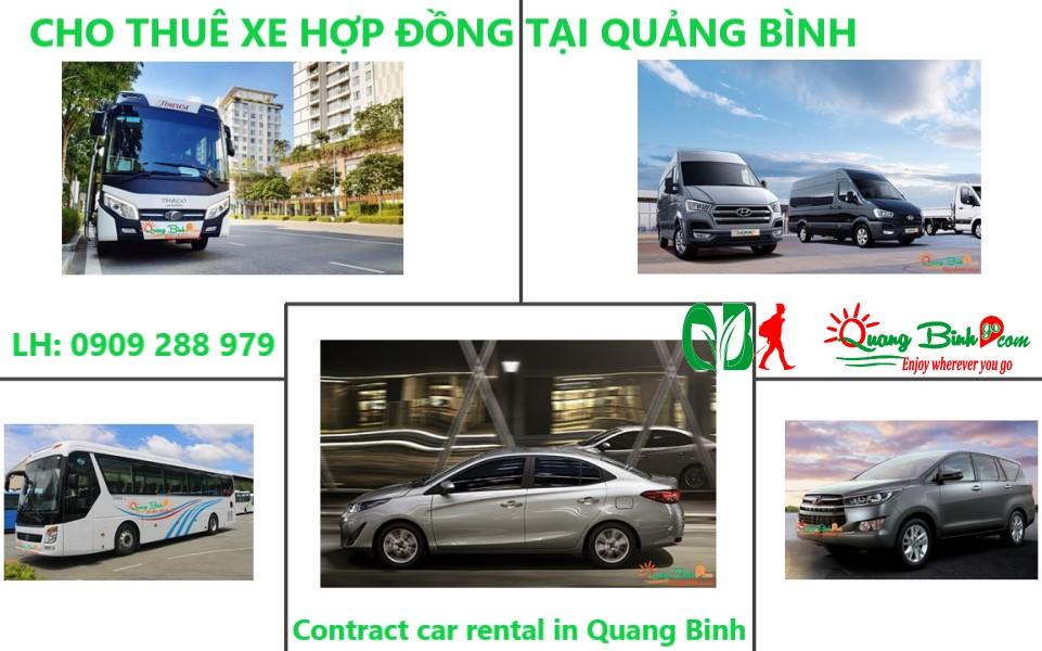 Cho thuê xe hợp đồng tại Quảng Bình car rental