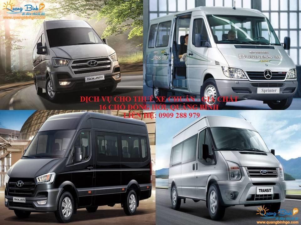 Dịch vụ cho thuê xe ô tô du lịch 16 chổ Đồng Hới, Quảng Bình