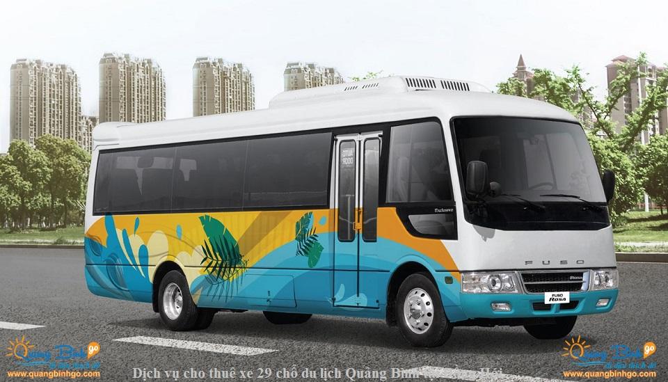 dịch vụ cho thuê xe du lịch Quảng Bình 29 chổ Fuso tại Đồng Hới