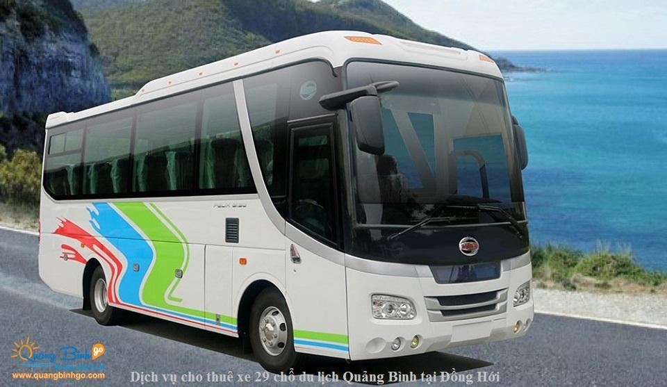 dịch vụ cho thuê xe du lịch Quảng Bình 29 chổ Samco tại Đồng Hới 1