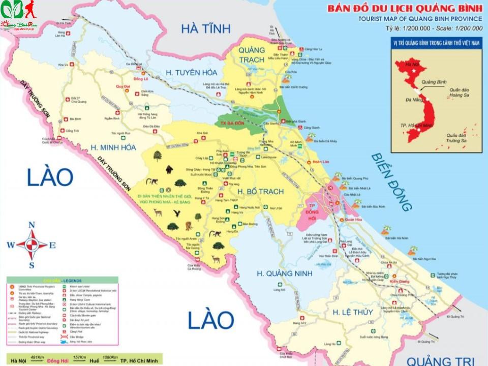 Bản đồ du lịch Quảng Bình tourist map