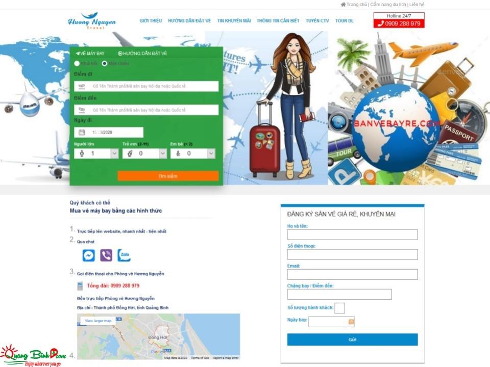 Đại lý vé máy bay tại Đồng Hới, Quảng Bình air ticket agent