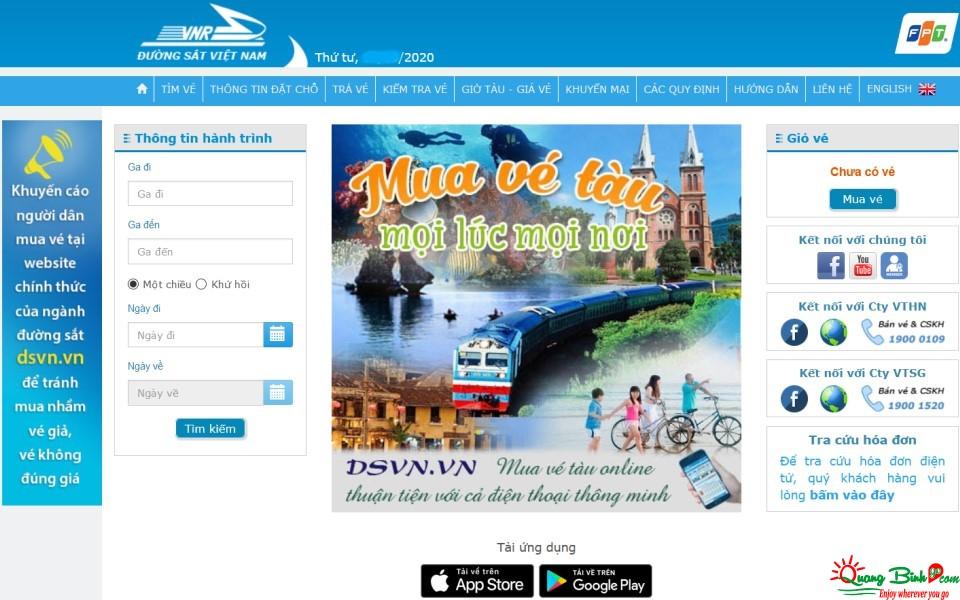 Di chuyển bằng đường sắt Việt Nam train tickets