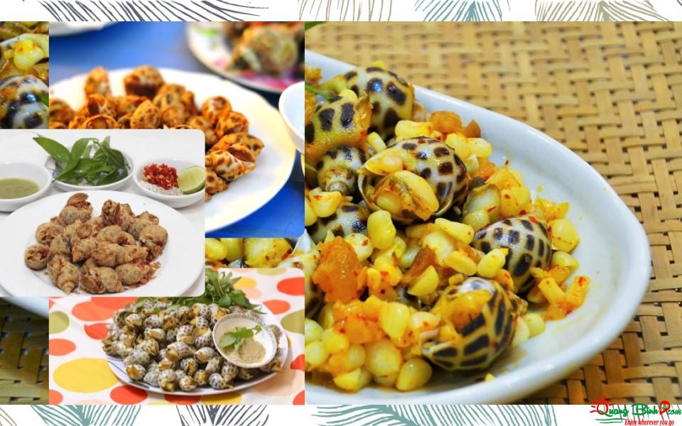 Món ốc hương Quảng Bình, seafood Quang Binh