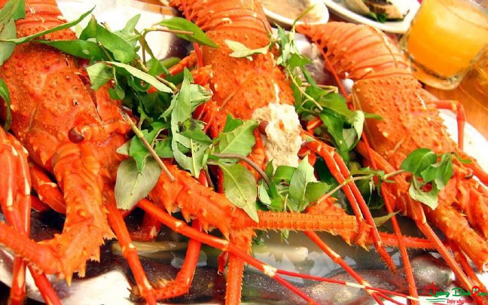 Tôm hùm Đồng Hới, seafood Quang Binh
