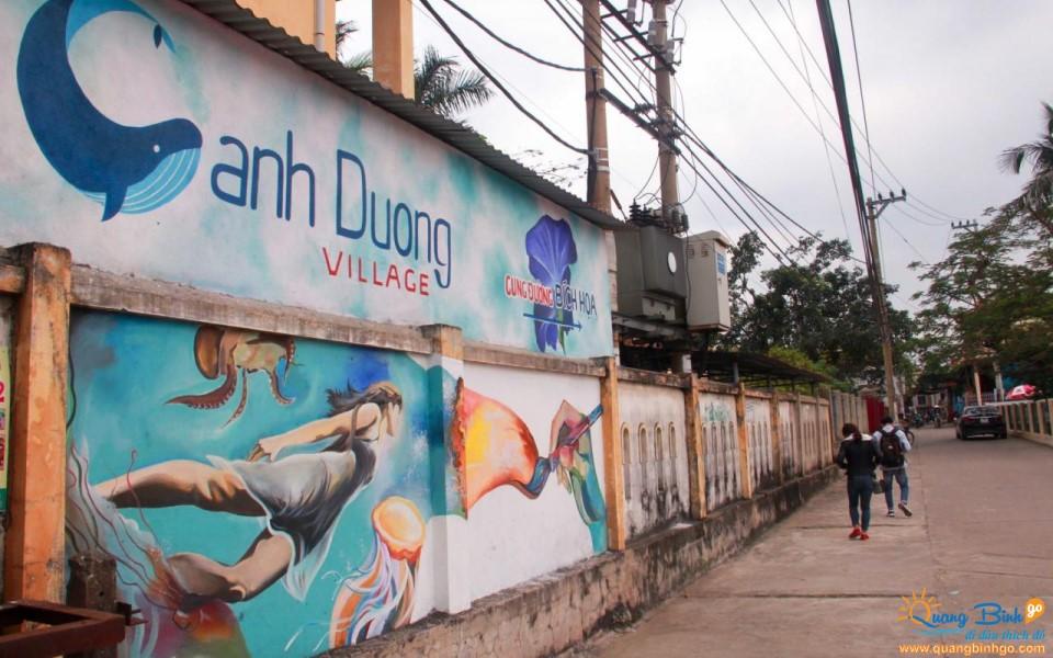 Cung đường bích họa làng biển Cảnh Dương