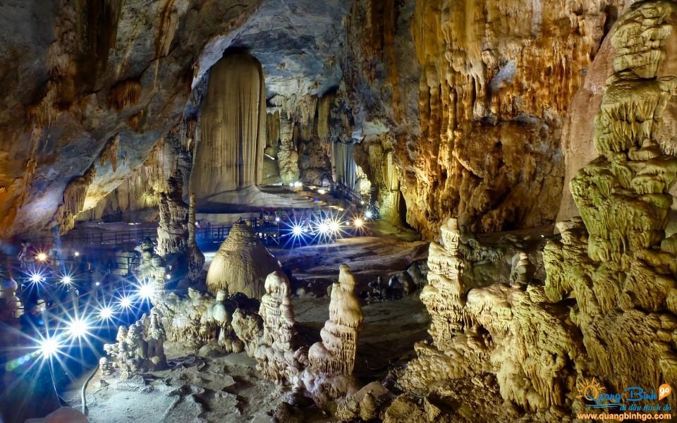 Paradise cave tourist area Vietnam