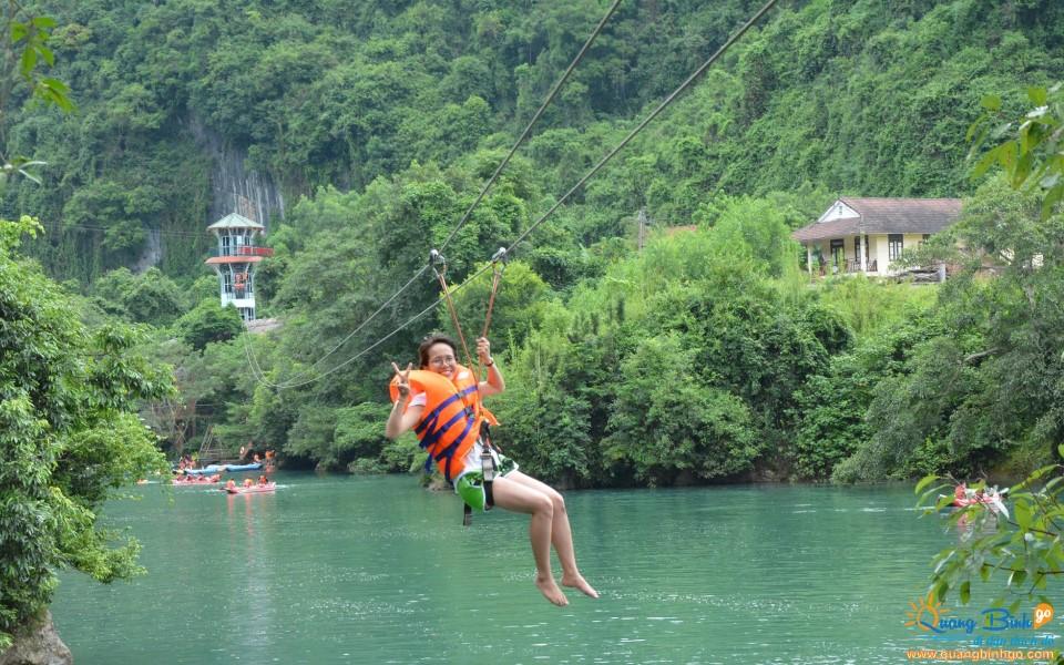 Zipline Dark cave tourist Phong Nha Ke Bang