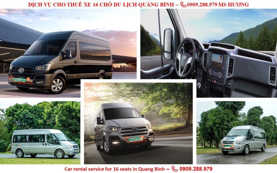 Cho thuê xe 16 du lịch Quảng Bình car rental