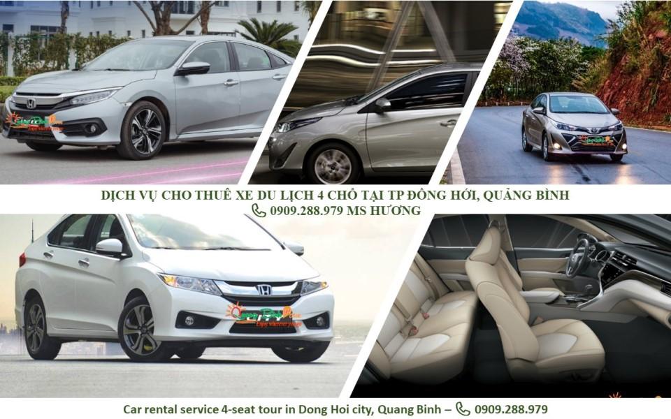 Cho thuê xe 4 chổ du lịch Quảng Bình car rental