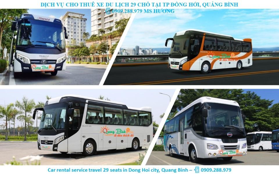 Thuê xe 29 chổ du lịch Quảng Bình car rental