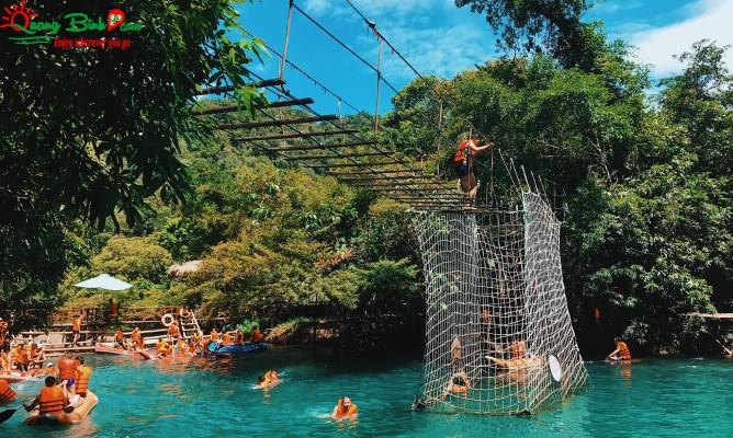 Du lịch Quảng Bình suối Mooc spring Phong Nha