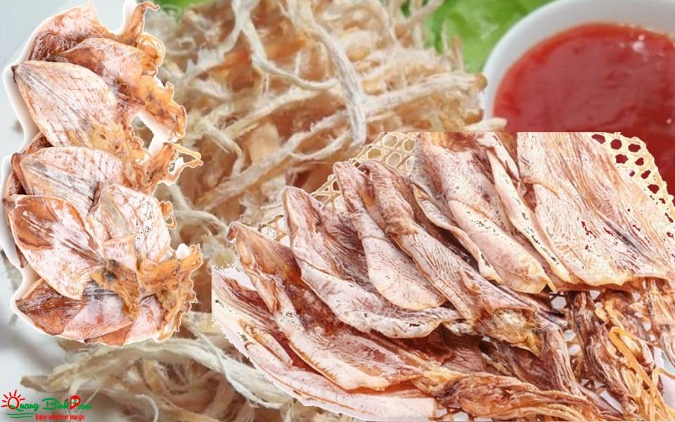 Hải sản khô mực Quảng Bình thơm ngon ngọt
