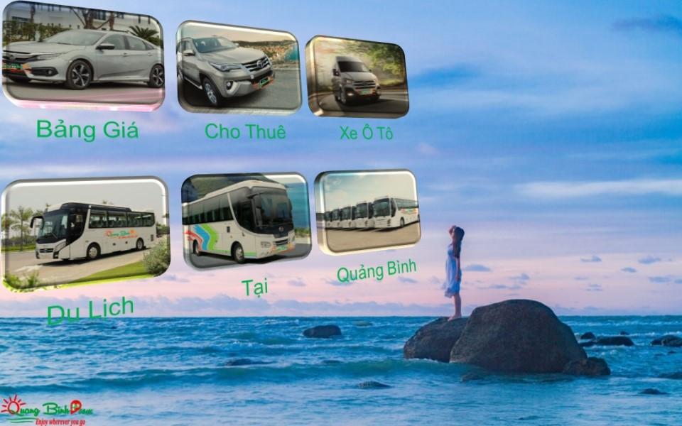 Bảng giá cho thuê xe ô tô du lịch tại Quảng Bình