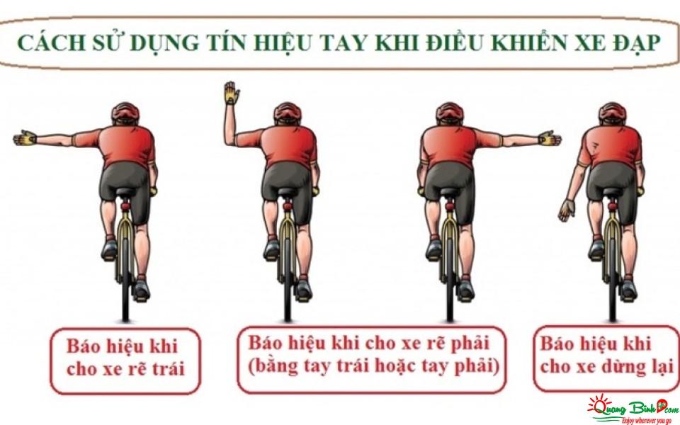 Tín hiệu bằng tay khi đi xe đạp, kinh nghiệm cần biết