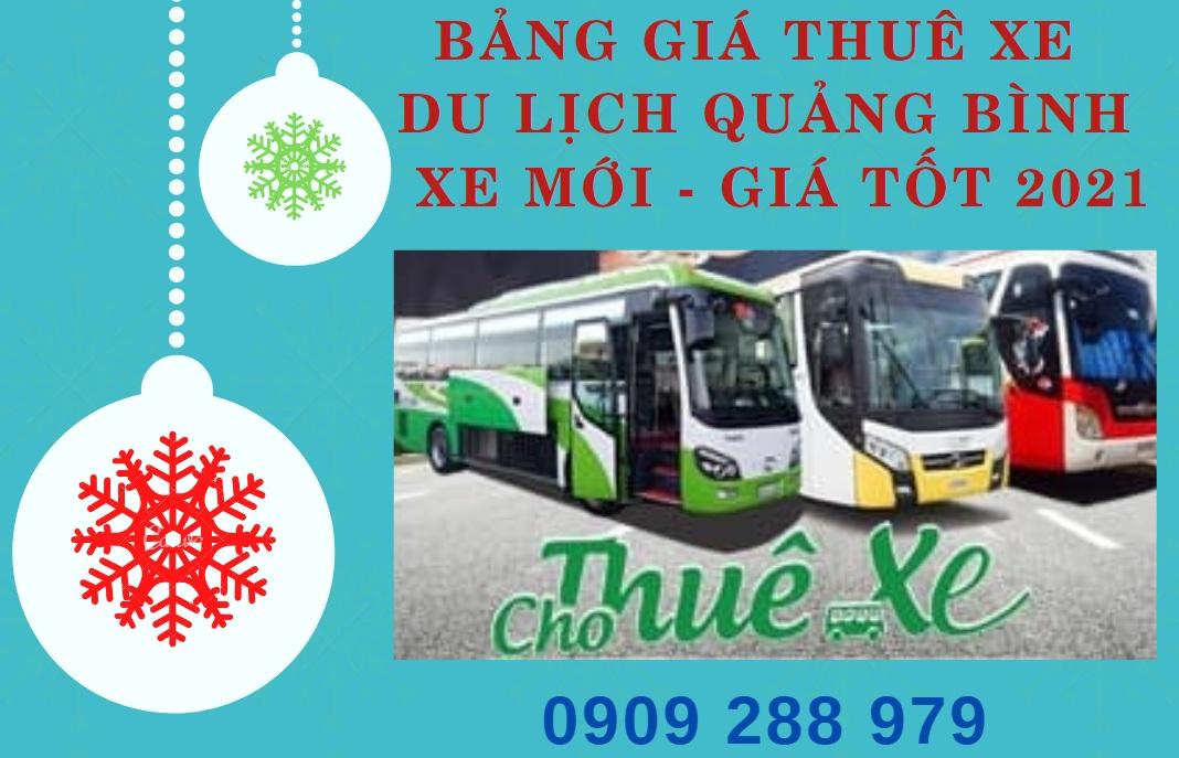 Bảng giá thuê xe du lịch Quảng Bình - Xe Mới - Giá Tốt 2021