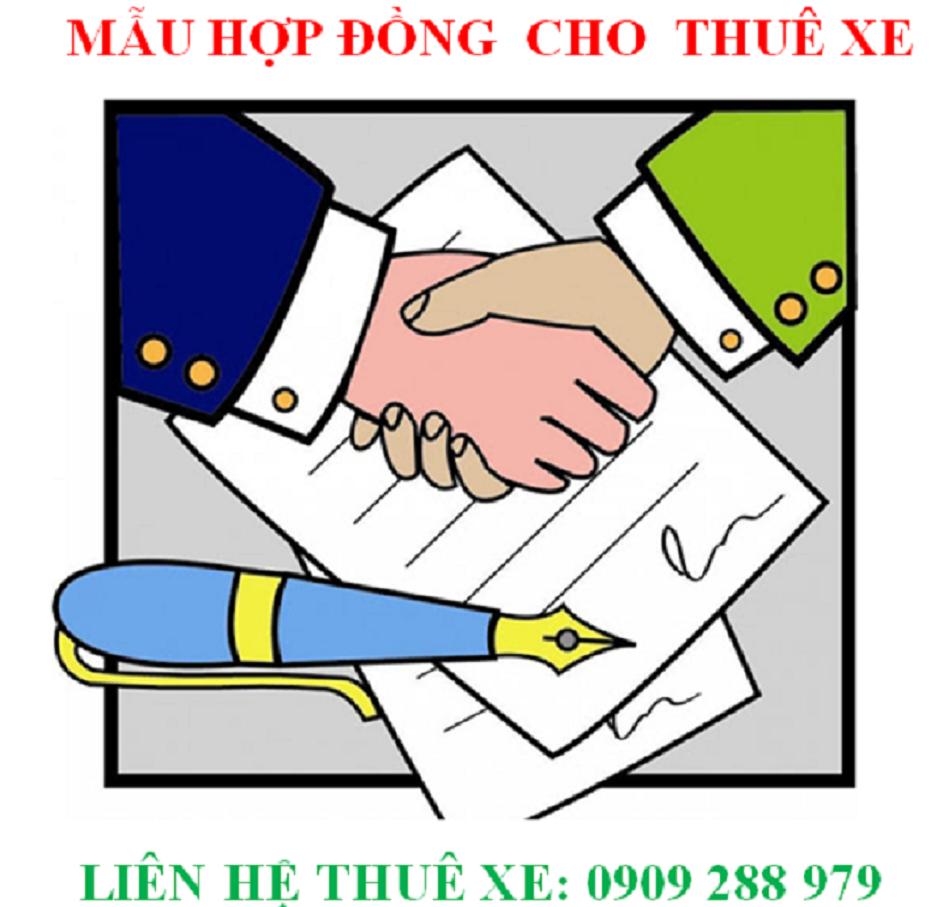 Mẫu hợp đồng thuê xe tại Quảng Bình- Quangbinhgo